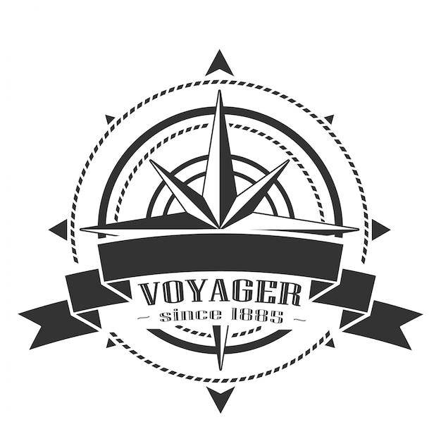Bedrijfslogo met windrose Premium Vector