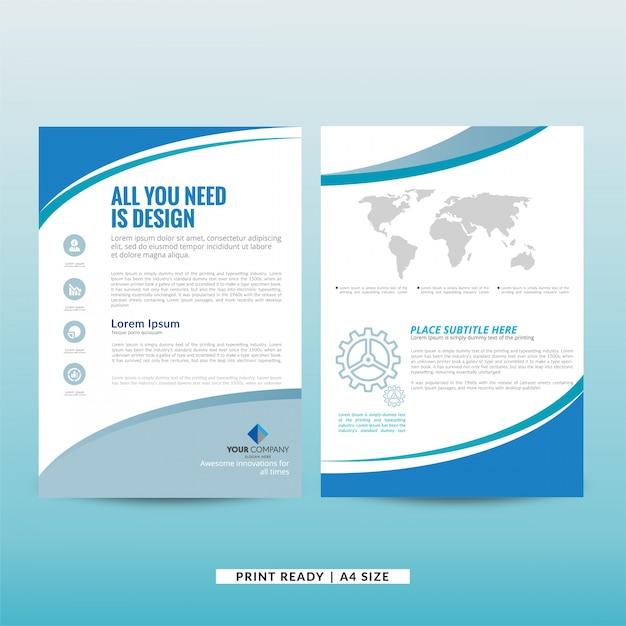 Bedrijfsmarketing brochuremalplaatje Gratis Vector