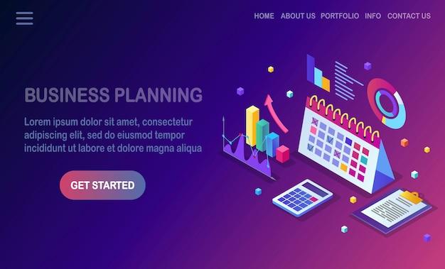 Bedrijfsplanning concept. Premium Vector