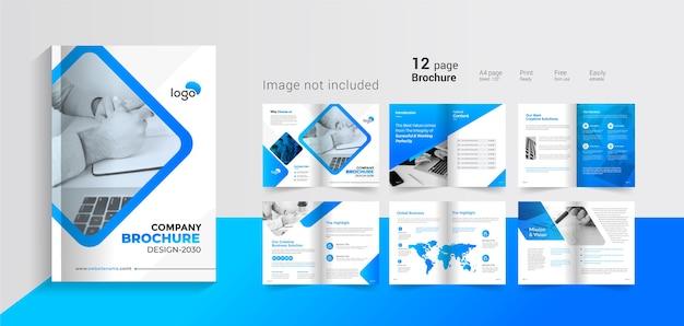 Bedrijfsprofiel omslagpagina's brochure Premium Vector