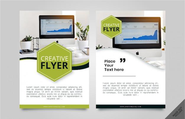 Bedrijfsvlieger poster Premium Vector