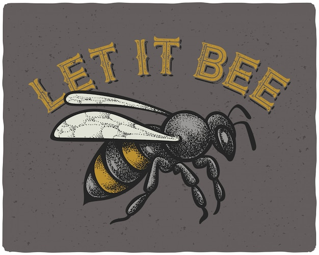 Bee illustratie Premium Vector