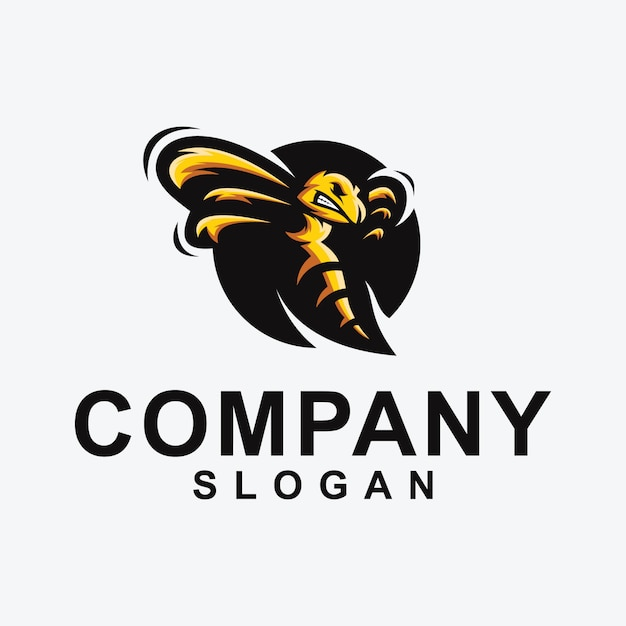 Bee logo design collectie Premium Vector
