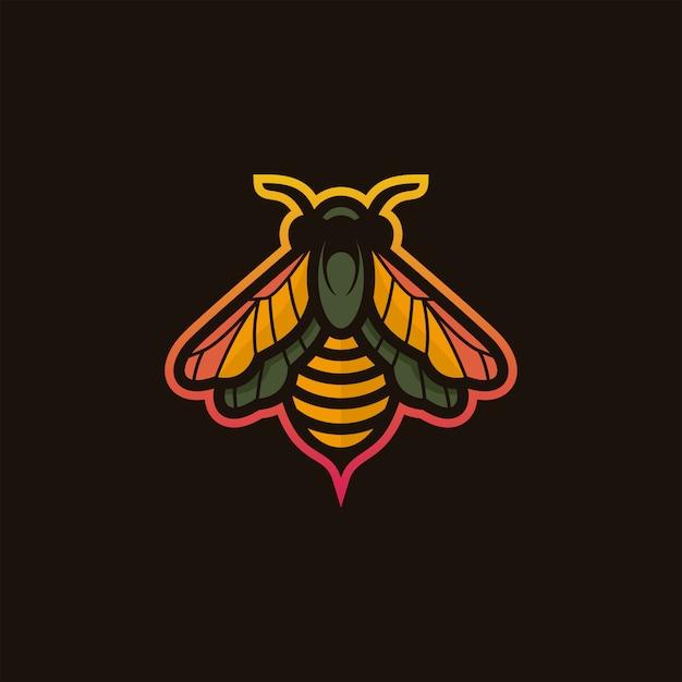 Bee logo illustratie Premium Vector
