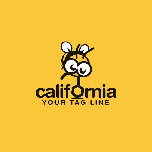 Bee logo ontwerp Premium Vector