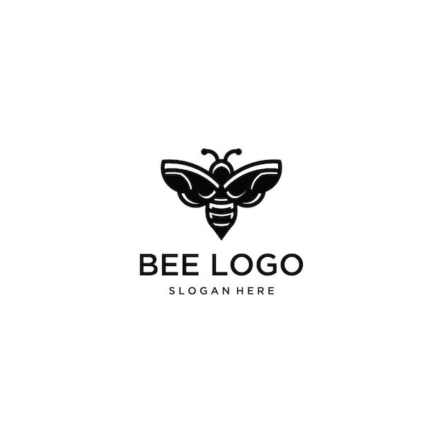 Bee logo template pictogram illustratie Premium Vector