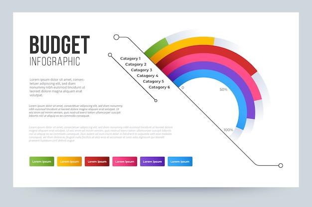 Begroting infographic concept Gratis Vector