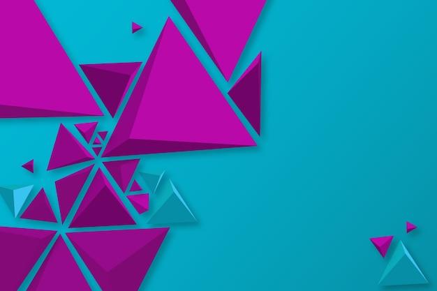 Behang met 3d driehoekenconcept Gratis Vector