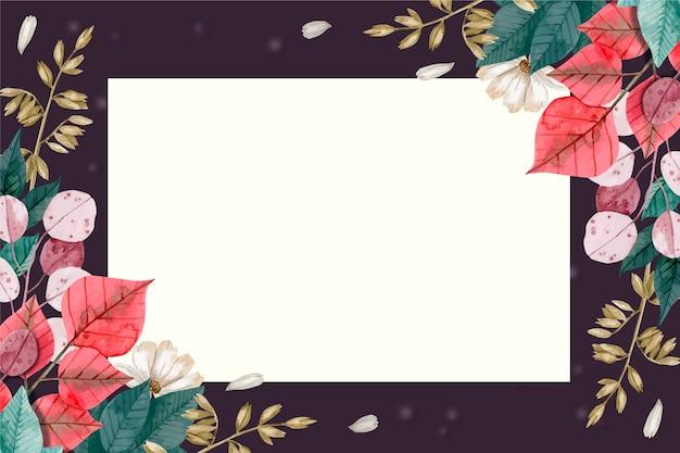 Behang met bloemenconcept Gratis Vector