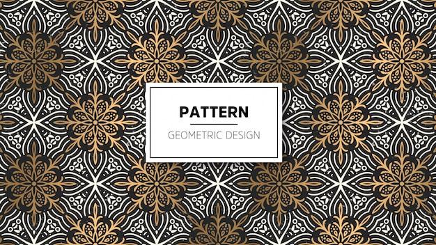Behang met mandala-patroon. Gratis Vector