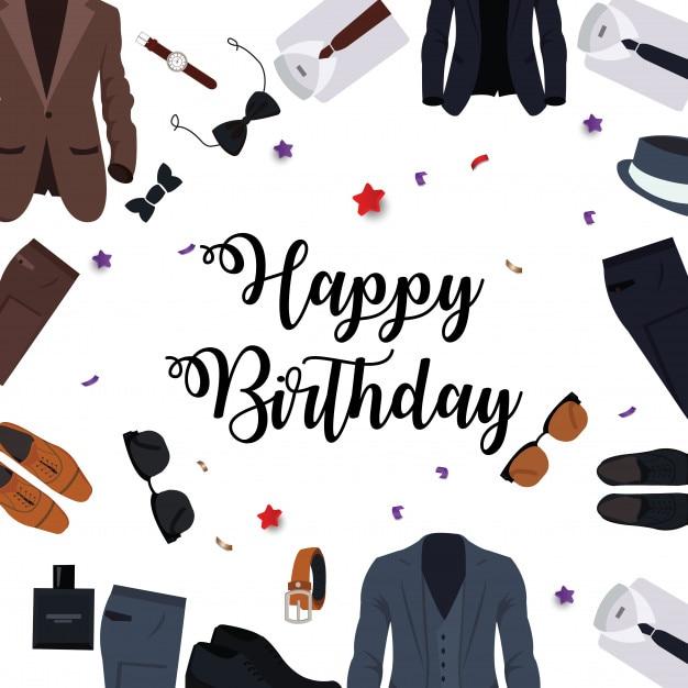 Behang Verjaardag Man Vector Premium Download
