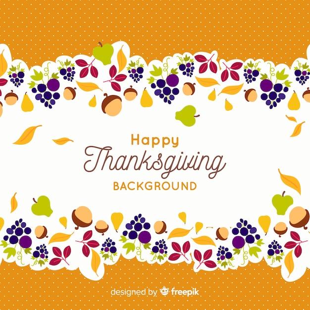 Behangconcept voor thanksgiving day Gratis Vector