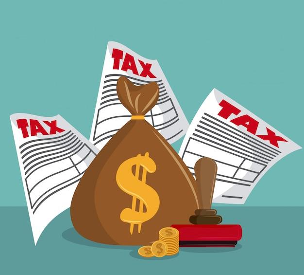 Belastingplichtige betaaldag Premium Vector