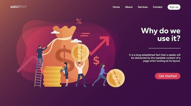Beleggers die inkomsten verdienen Gratis Vector