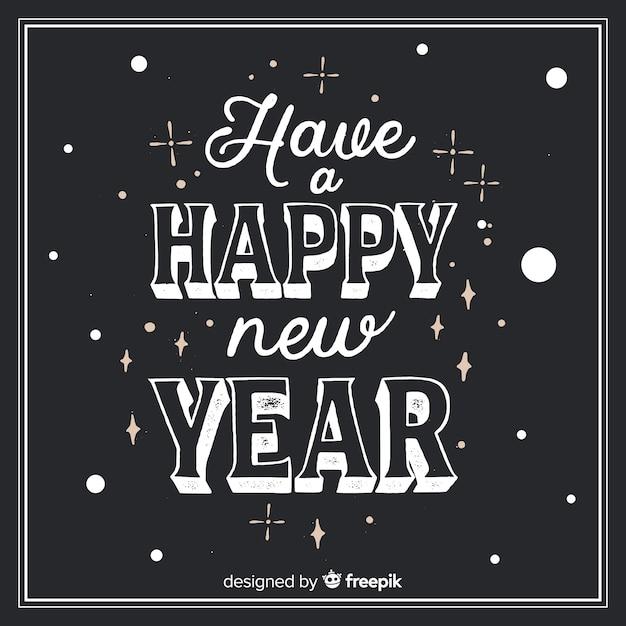 Belettering van het nieuwe jaar 2019 Gratis Vector