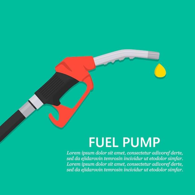 Benzinepomppijp met druppel Premium Vector