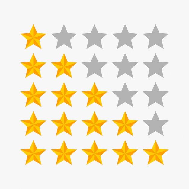 Beoordeling sterren vectorillustratie Premium Vector