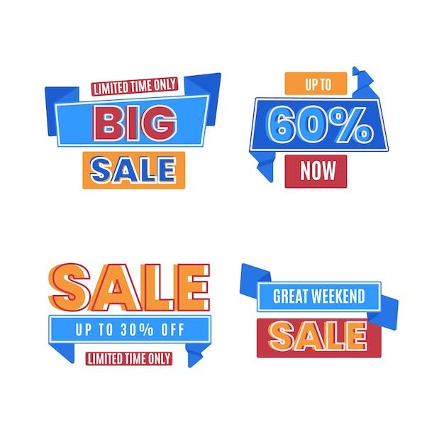 Beperkte tijd verkoop banners collectie Gratis Vector