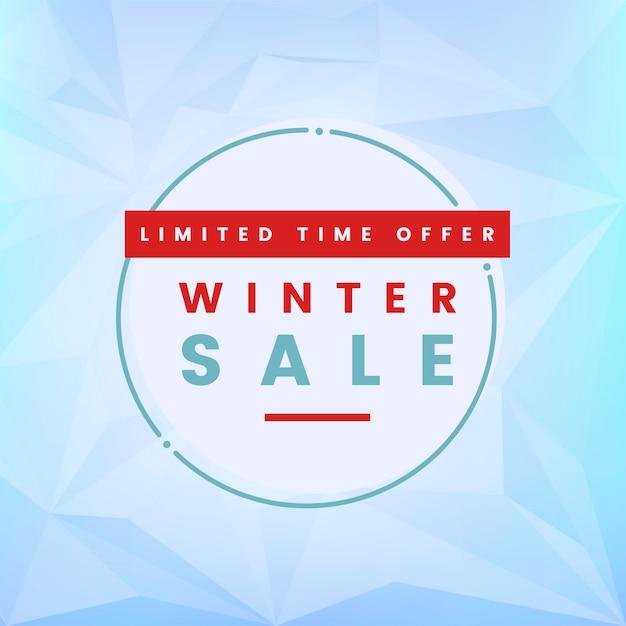 Beperkte tijdaanbieding winter verkoop vector Gratis Vector