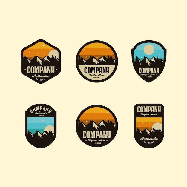 Berg logo set Premium Vector