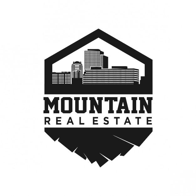 Berg ondergronds en realestate Premium Vector