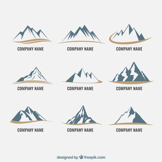 Berg pictogrammen Gratis Vector