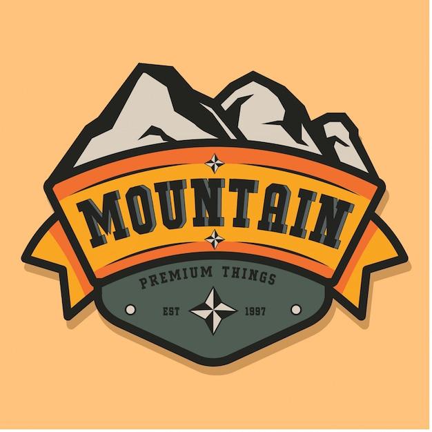 Berg vintage logo Premium Vector