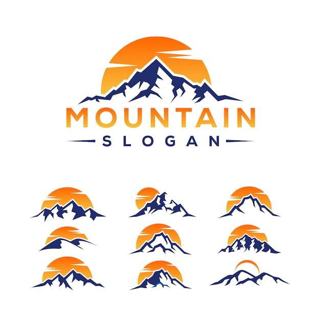 Bergen logo ontwerpen Premium Vector