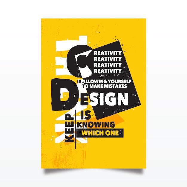 Beroemd ontwerp citeert typografische poster Gratis Vector