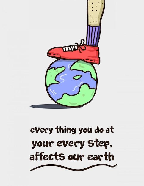 Bescherm je aarde Premium Vector