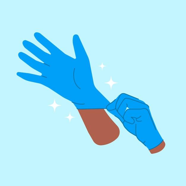 Beschermende handschoenen concept Gratis Vector