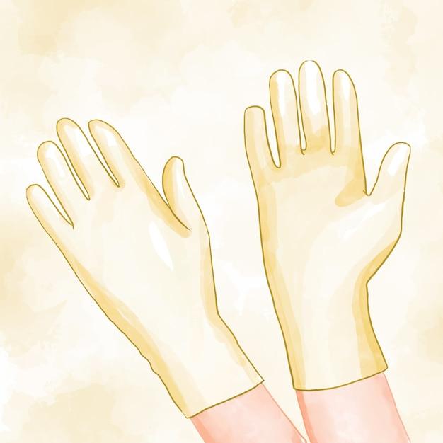 Beschermende handschoenen thema Gratis Vector