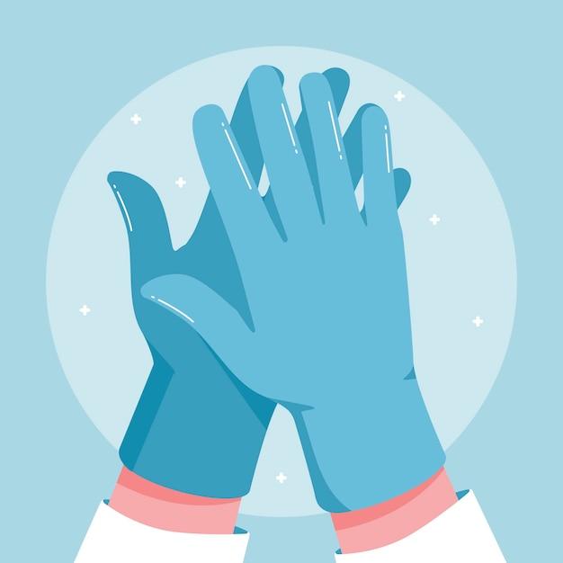 Beschermende handschoenen Gratis Vector