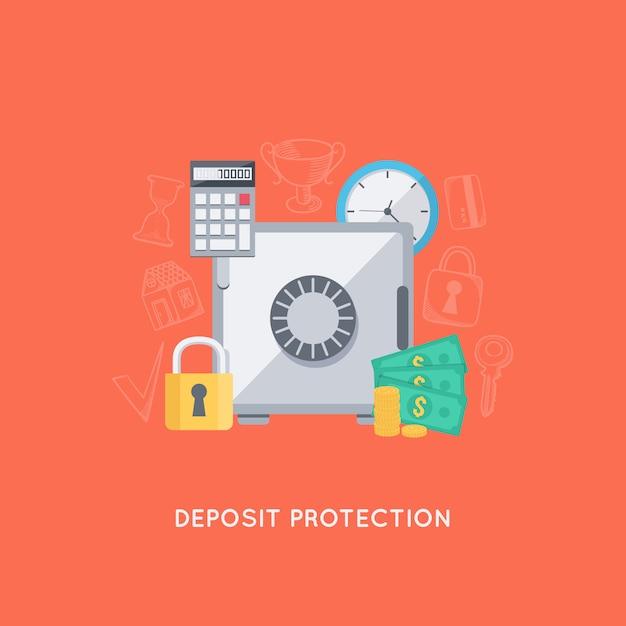 Bescherming bankstorting Gratis Vector