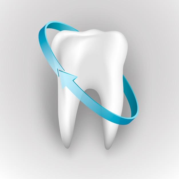 Bescherming van menselijke tanden Premium Vector