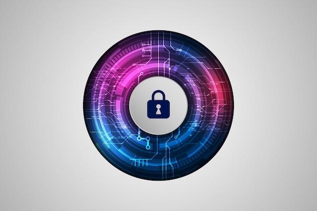 Beschermingsconcept bescherm mechanisme, systeemprivacy Premium Vector