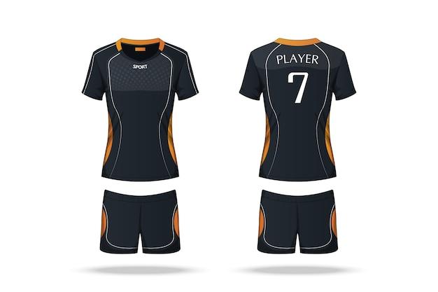 Beschrijving volleybal jersey Premium Vector