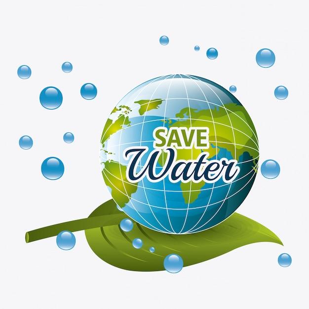 Bespaar waterecologie Gratis Vector