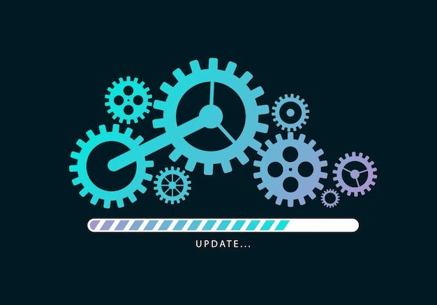Bestanden laden of updaten Premium Vector