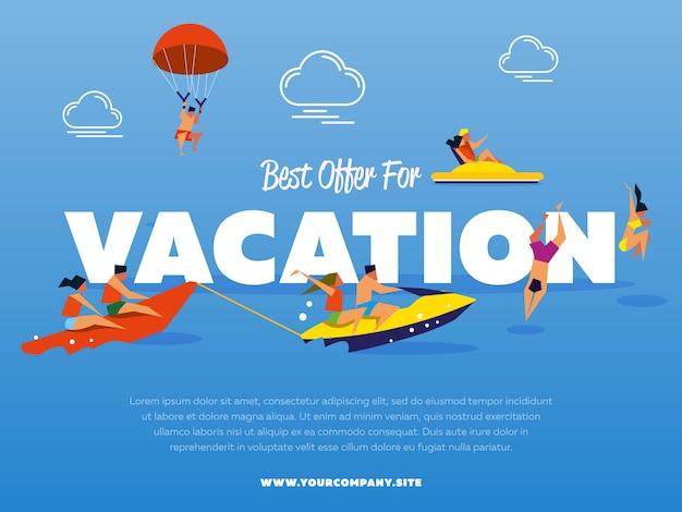 Beste aanbieding voor vakantiesjabloon Premium Vector
