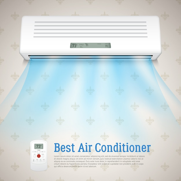 Beste airconditioner illustratie Gratis Vector