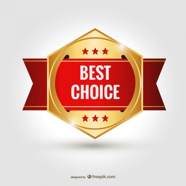 Beste keuze badge vector Gratis Vector