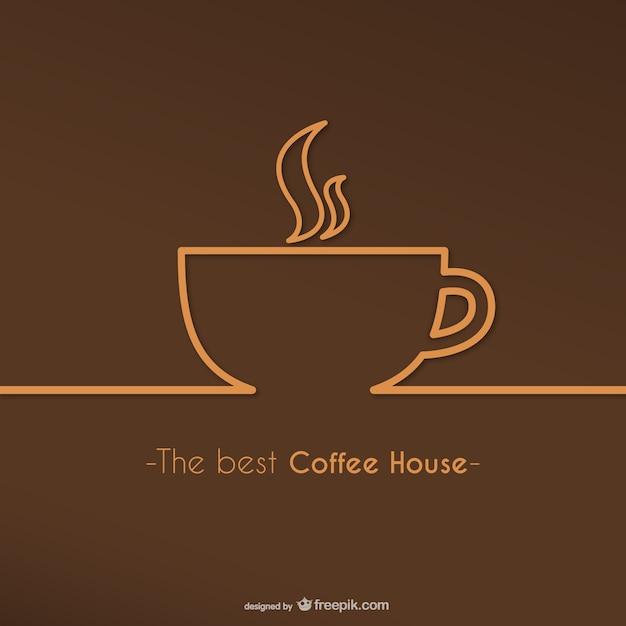 Beste koffie huis logo vector Gratis Vector