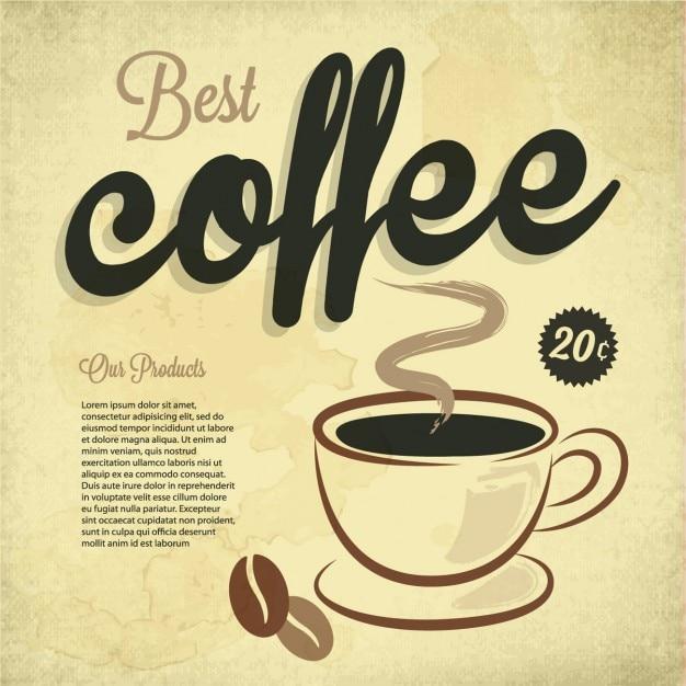 Beste koffie Gratis Vector