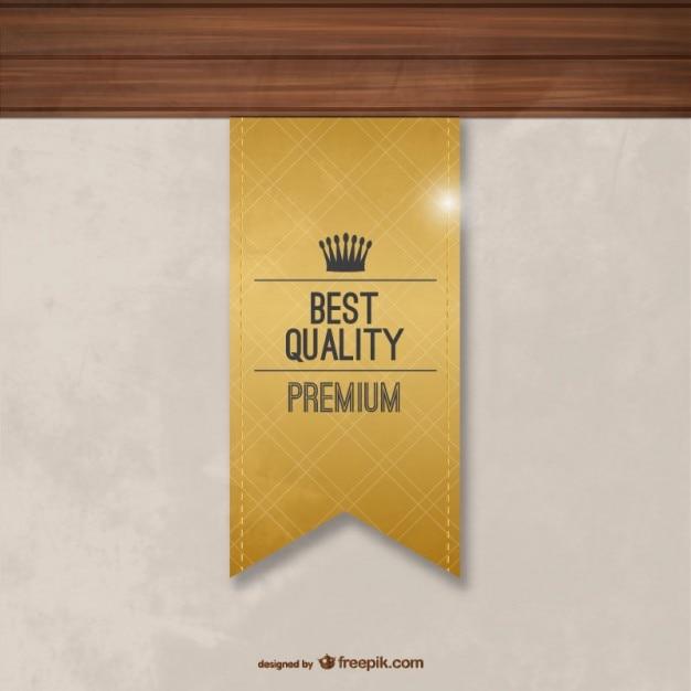 Beste kwaliteit label Gratis Vector