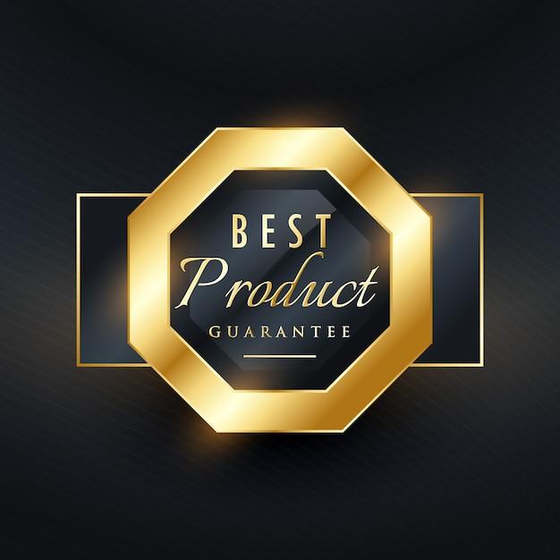 Beste productgarantie gouden zegel label design Gratis Vector