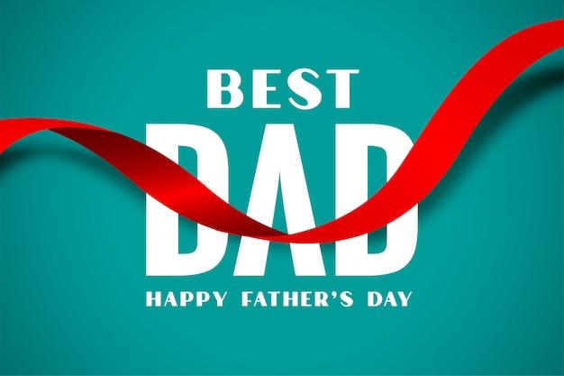 Beste vader gelukkige vaders dag lintstijl Gratis Vector
