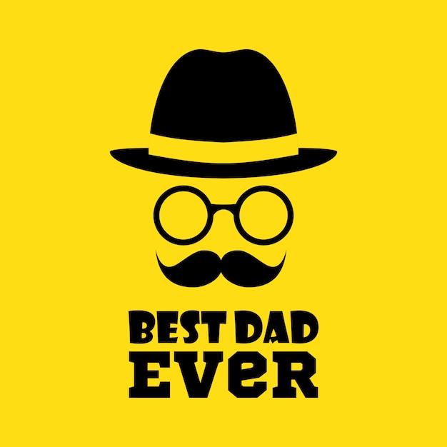 Beste vader ooit Premium Vector
