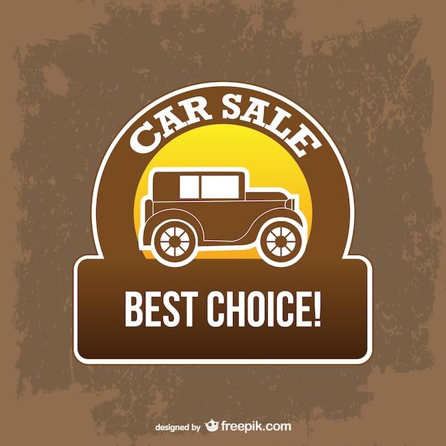 Beste Verkoop Auto Teken Vector Gratis Download