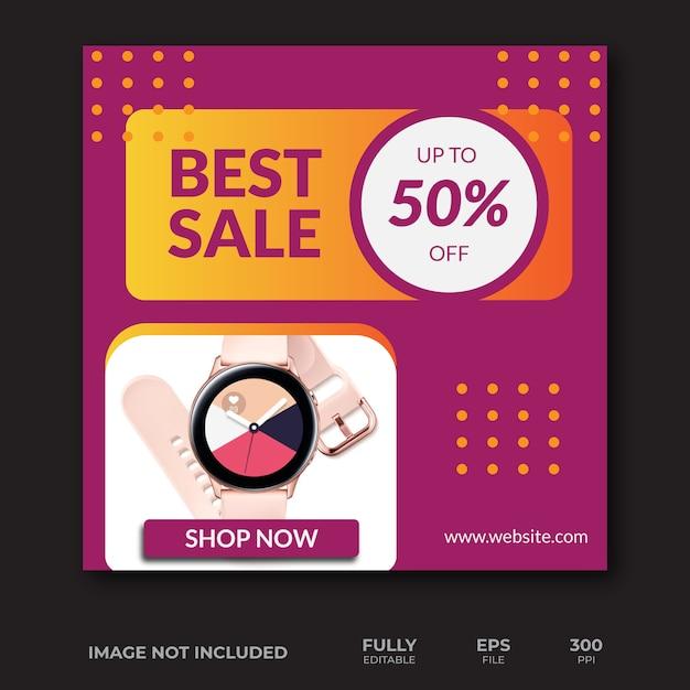 Beste verkoopbannersjabloon Premium Vector
